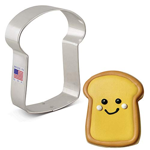 Ann Clark Cookie Cutters Slice of Bread Cookie Cutter, 3.75'
