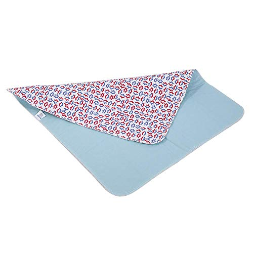 大人の布のマット、2色の洗濯できる再使用可能な尿のマットの大人の失禁の反スリップの看護のパッド80 * 90 cm(Red Blue)