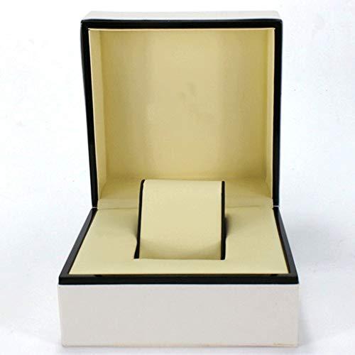 XYZMDJ Wooden Watch Box Schwarzes Leder Futter Schmuck Display Box Geschenk Aufbewahrungsbox Watch Box Wooden Box