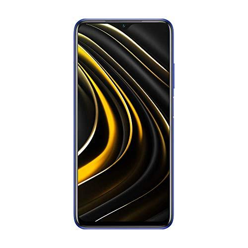 """Xiaomi Poco M3 - Smartphone 4+64GB, Pantalla 6,53"""" FHD+ con Dot Drop, Snapdragon 662, Cámara Triple de 48 MP con IA, batería de 6000 mAh Azul Molón Blue"""