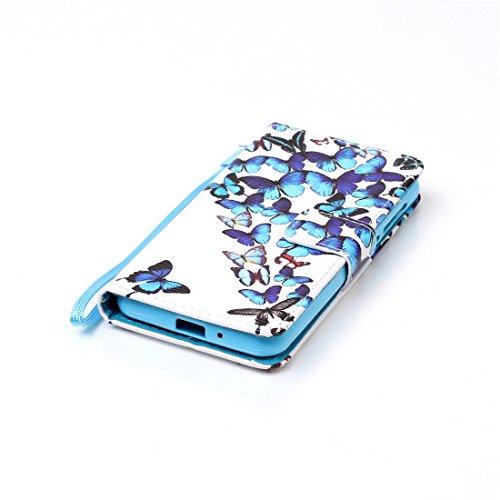 Nancen Compatible with Handyhülle Huawei Y3 II / Y3 2 (4,5 Zoll) Hülle, Bunt PU Leder Brieftasche Schutzhülle Bookstyle Flip Case Wallet Cover mit Standfunktion - 5