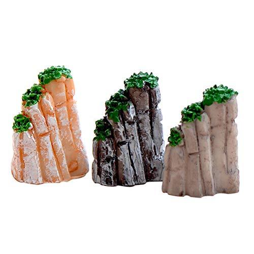 Bclaer72 Bonsai ornament, 6 stuks hars bergen miniatuur ornamenten Fairy Garden Bonsai Aquarium decoraties speelgoedplanten tuin accessoires