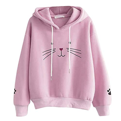 Buy Discount TnaIolral Cute Hoodies for Women Pullover Long Sleeve Sweatshirt Jumper Pullover Print ...
