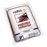 Radflek - Pannelli termoriflettenti per termosifoni, con strisce adesive termoriflettenti Radstik, confezione da 8 pannelli + 8 strisce Radstik