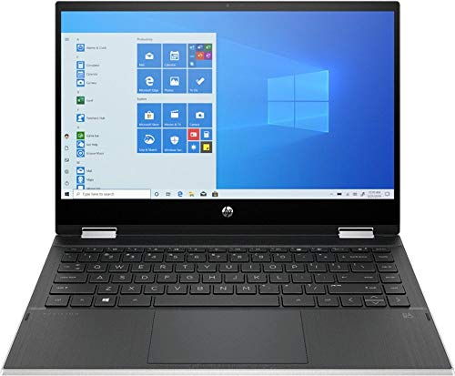 """HP Pavilion x360 2-in-1 14"""" Touch-Screen Laptop, 11th Gen Intel Core i3-1115G4(Beat i5-1035G4),8GBRAM-128GB SSD, Win10 H, 14m-dw1013dx, Natural Silver"""