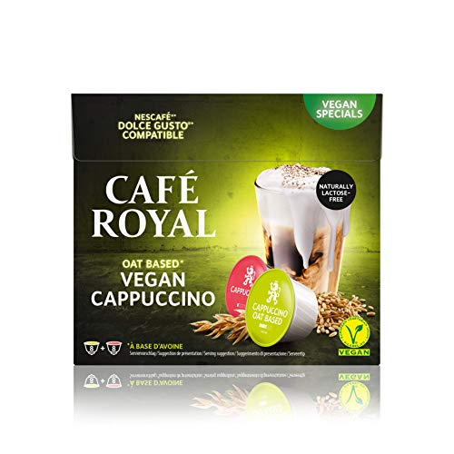 Café Royal Cappuccino Oat Vegan 48 Dolce Gusto®* Kaffeekapseln, 3er Pack (3 x 16 Kapseln) 2002298