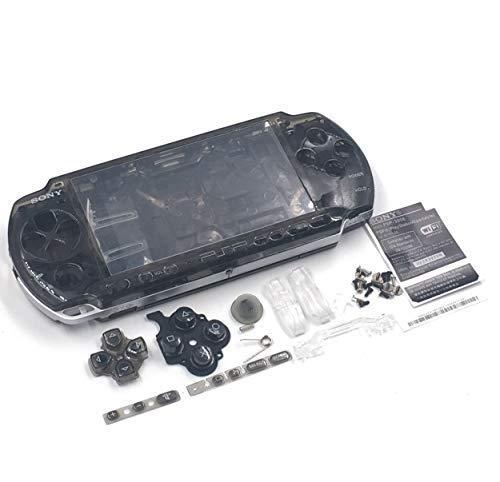 Ersatz-Gehäuse mit Knöpfen für Sony PSP3000 / PSP 3000 / 3001 / 3002 / 3003 / 3004 Serie (transparent) Schwarz