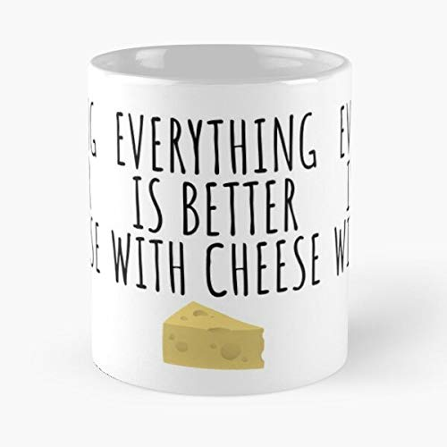 Cheese Cheesey Cheesy I Mouse Love Food Lover The best 11oz White marble ceramic coffee mug