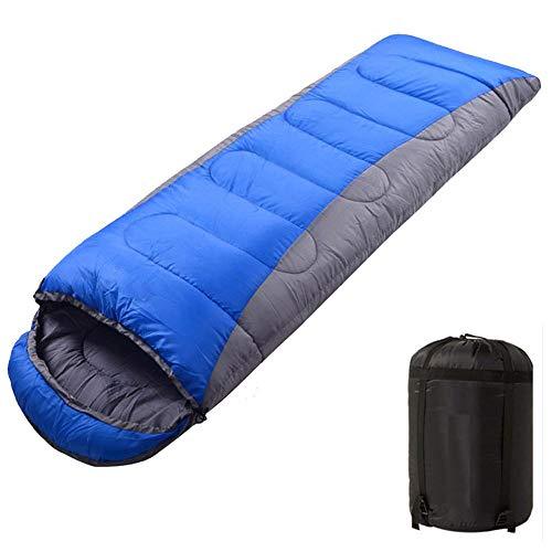 Sac de Couchage de Camping LIUSIYU, Sac de Couchage léger pour Enveloppement saisonnier, Extra Chaud et léger, Idéal pour Le Camping, la randonnée,Blue