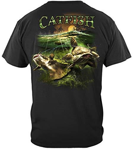 bass Fishing Hooks   Catfish Merky Water T Shirt BTB2375XXXL