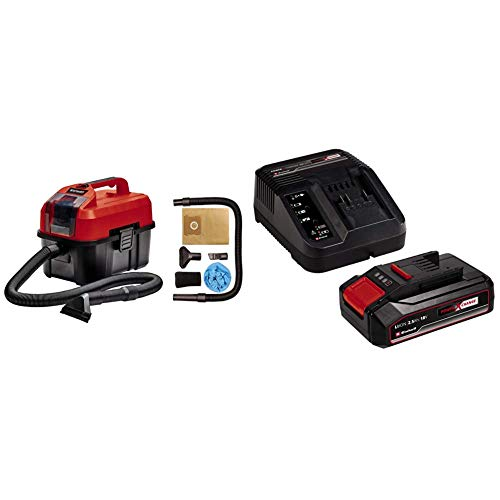 Einhell Aspirasolidi e liquidi TE-VC 18/10 Li-Solo Power X-Change + 2,5 Ah Power X-Change Batteria