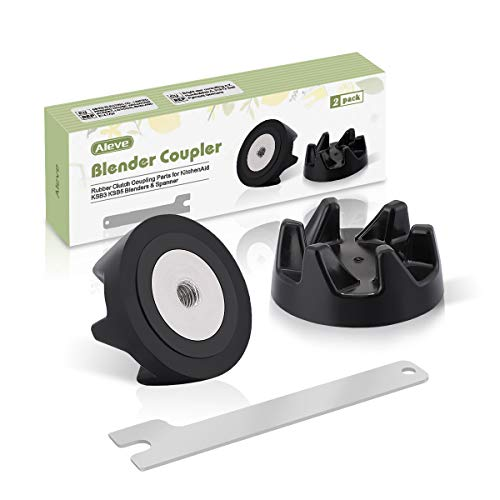 AIEVE Blender Coupler for KitchenAid 9704230, 2 Pack Replacement Blender Accessories, Rubber Clutch Coupling Parts with Spanner Compatible with KitchenAid KSB3 KSB5 Blender