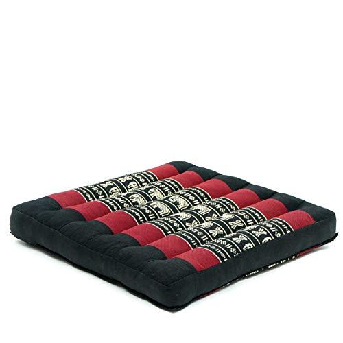 Leewadee Floor Cushion Seat Cushion Seat Cushions For Chairs Outdoor Floor Cushion Floor Seat Meditation Cushion Meditation Seat, Kapok, black red