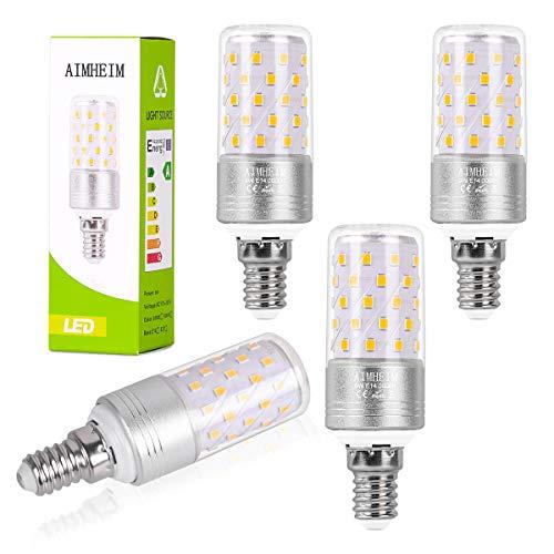 AIMHEIM E14 LED Glühbirne, 9W E14 LED Mais Birne ersetzt 80W Glühlampe, 950LM Maiskolben, 3000K Warmweiss Energiesparlampe E14 LED Lampe Nicht Dimmbar, Kleine Kerze Licht, AC220-240V, 4er Pack