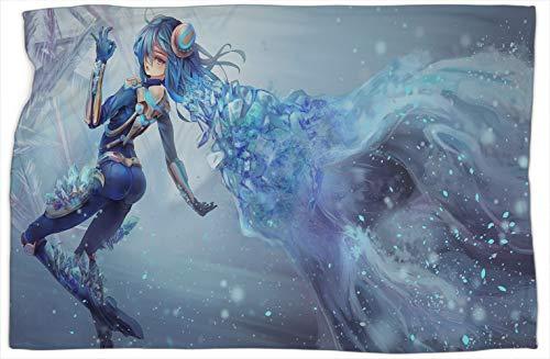 Frostblade Irelia League Legends - Manta con patrón de escalera para dormitorio, manta doble, bufanda súper suave, cálida y cómoda, mantas y mantas de 60 x 80 pulgadas