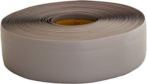 Weichsockelleiste selbstklebend, 25m Rolle, Sockelleiste für Laminat, Parkett und Vinyl, Winkelleiste aus Kunststoff, Abschlussleiste für Boden und Wand