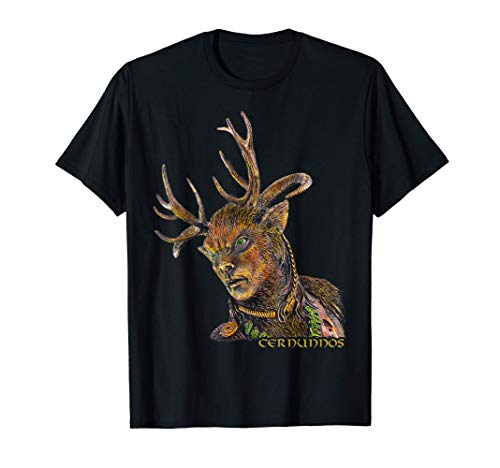 Cernunnos Ciervo Cuernos Celta Dios Camiseta