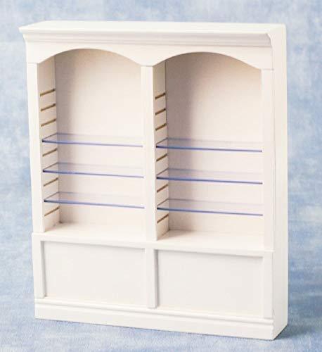 Melody Jane Casa de Muñecas 2 Bay para Tienda Doble Tienda Estante Unidad Blanco Miniatura