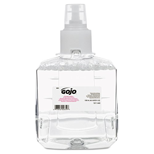 GOJO 1911-02 Clear and Mild Foam Handwash 1200 mL Refill for GOJO LTX-12 Dispenser (Pack of 2)