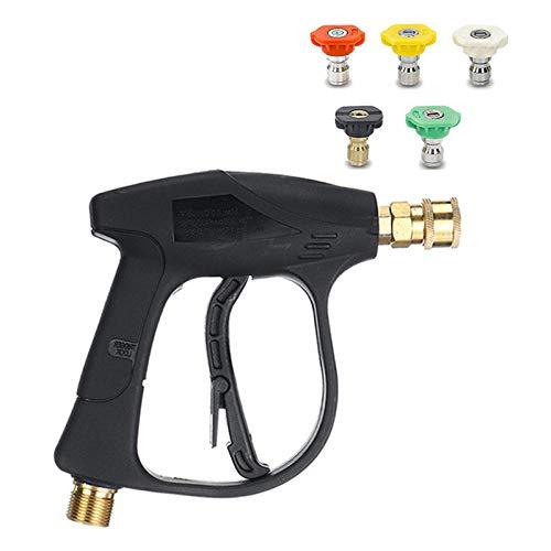 Arma de la arandela de Alta presión con 5 Punta de Boquilla de Agua, Pistola limpiadora de Lavado de Autos para Limpieza de Autos, jardín/Mascota/Herramienta de Limpieza al Aire Libre