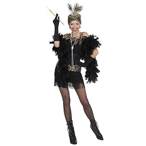 Widmann 72982 - Erwachsenenkostüm Charleston, Kleid und Kopfbedeckung, Größe M