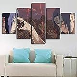 183Tdfc 5 Teilig Leinwand Wanddeko Naruto Sasuke Gegen Itachi Hd Bilder Leinwanddrucke 5 Stück Leinwand Bilder Gemälde Modern Wohnzimmer Wohnkultur Geschenk 150X80Cm Rahmen