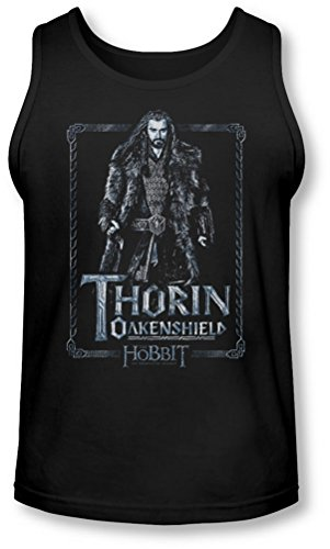 The Hobbit - - Thorin Stare Tank-Top pour hommes, Medium, Black