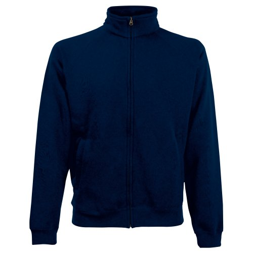 Fruit of the Loom - Chaqueta Sudadera Modelo Sweatshirt Hombre Caballero (Extra Grande (XL)/Azul Oscuro)