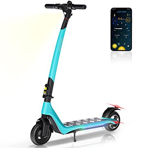 JOYOR Electric Scooter forAdults Powerful 350W Motor Max Speed Up to 15.5 MPH, 15.5 Miles Long Range, One-Step Fold ScooterElectricfor Commute and Travel(A3 Blue)