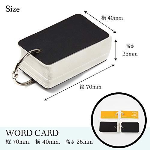 KAHNIs単語帳単語カード暗記カードメモ帳黒100枚×6冊