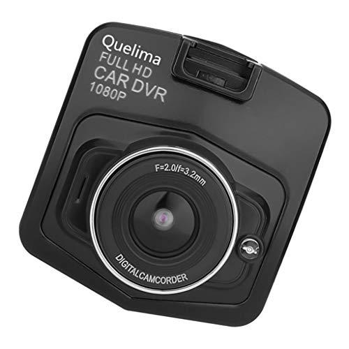 PETSOLA Kit de Grabadora de Video con Lente de Cámara Dual DVR para Coche HD 1080P Portátil W - Negro