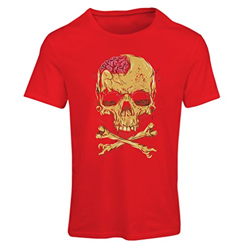 lepni.me Camiseta Mujer La Calavera (XX-Large Rojo Multicolor)