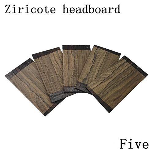 HAOHAO Ziricote Kopf Klavier Hauptbrett Gitarrenbau Reparaturmaterial Zubehör 200 * 70 * 4mm (Color : Ziricote headboard)