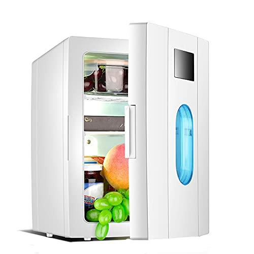 YMXLXL 10L Mini Refrigerador Libre Freón Bajo Consumo Energía Nevera Silenciosa para Hotel con Funciones Refrigeración y Calefacción Diseño Silencioso Nevera Eléctrica con Ventana Escala Visual(Gris)