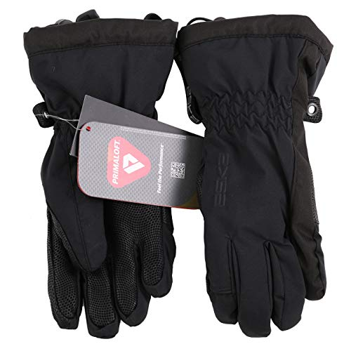 ESKA Sports Damen Wintersport Ski Handschuhe White Cult Black 3230 ((XS) 6,5)