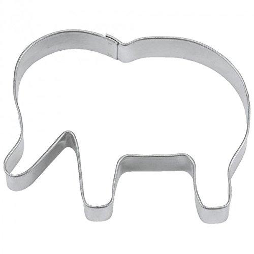 Staedter Acier Inoxydable Elephant Cookie Cutter, Argent, Acier Inoxydable, Silver, 6 cm