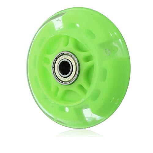 DBSUFV Ruedas de Repuesto para Scooter de 120 mm con cojinetes ABEC 7, Luces Intermitentes LED Flash Wheel Mini o Maxi duraderas - Reemplazo para Scooters Kick/Razor (Verde)