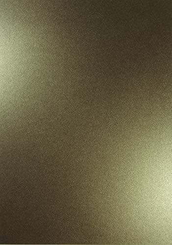 10 x Perlmutt-Braun 120g Papier DIN A4 210x297mm Majestic Medal Bronze doppelseitig schimmernd Pearl-Karton Perl-Glanz Perlmutt-Papier Bastel-Karton metallic glänzend für Inkjet und Laser Drucker