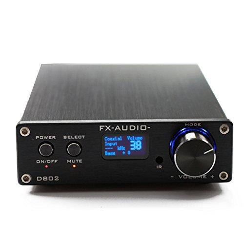 『FX-Audio D802 デジタルアンプ USB光ファイバー同軸入力 192KHz 2x80W (ブラック)』の1枚目の画像