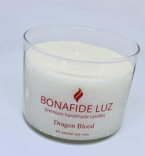 Bonafide Luz Handmade Soy Wax Candle-DragonBlood-Short Clear Glass with lid