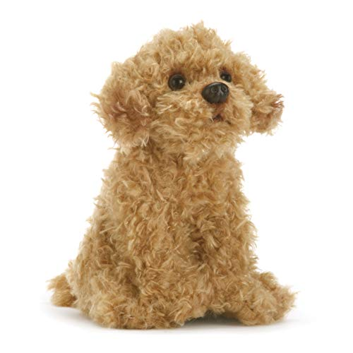 DEMDACO Labradoodle 5.5 Inch Children's Plush Beanbag Stuffed Animal Toy, Light Brown