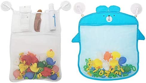 Sukaswi 2 Mesh Quick Dry Bath Toys Organizer Storage for Tub 8 Ultra Strong Suction Sticker product image