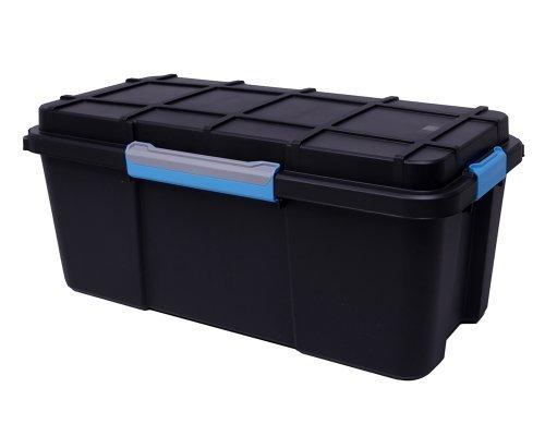 Ondis24 Multifunktionsbox mit wasserdichter umlaufender Deckeldichtung Stapelbox Werkzeugkiste Transportbox Scuba L