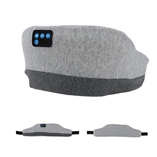 Schlafmaske, verbesserte Schlafkopfhörer Bluetooth-Augenmaske für schlafende Frauen, drahtlose Augenbindenmaske für Nickerchen/Yoga/Nacht/Büro/Reise Unisex Geburtstag (hellgrau)