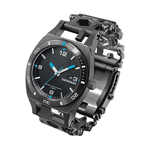 LEATHERMAN - Tread Tempo Watch, Customizable Multitool Timepiece, Black