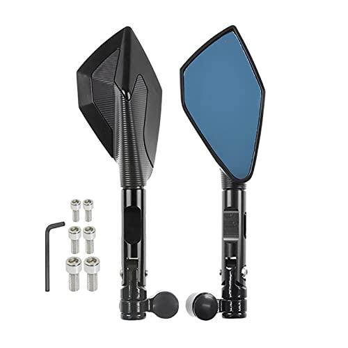 Espejos Retrovisores CNC para Yamaha MT01 MT03 MT-07 MT-09 / Tracer FJ09 MT10 Tracer 900 700 Espejos Retrovisores De Motocicleta Tornillos M8 M10 (Color : Negro)