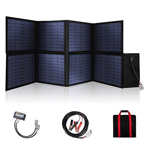 SARONIC 120W 12V Tragbarer Faltbares Solarpanel Ladegerät mit einem 10A Solarladeregler für Wohnwagen RV Hiking, Mobile Offices 12V System
