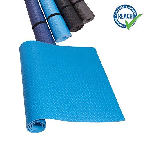 Eva onderlegmat loopband donkerblauw blauw grijs zwart yogamat antislip & geluiddempend - vloerbeschermingsmat fitnessruimte vloerbedekking
