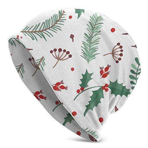 AEMAPE Beanie Unisex Christmas Pine Warm Skull Knit Hat Unisex Slouchy Soft Headwear Gorra con puños
