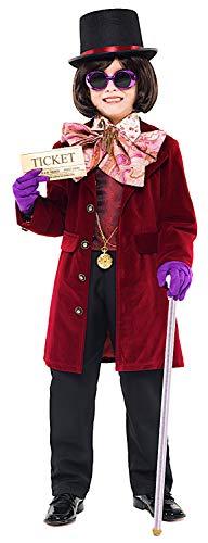 COSTUME di CARNEVALE da IL RE DEL CIOCCOLATO vestito per ragazzo bambino 7-10 Anni travestimento veneziano halloween cosplay festa party 52355 Taglia 7/S